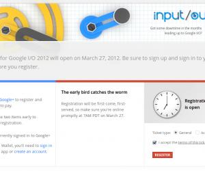 Now on Sale Tickets for The Google I/O 2012. (Sold-Out)