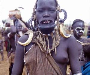 An Ndebele Woman Sporting Neck Rings Remade In Rubber For The Film