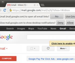 Google chrome default email application