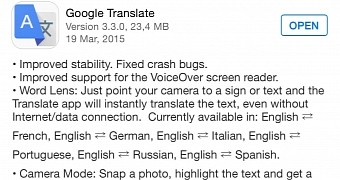 Google Translate Updated for iPhone and iPad with VoiceOver
