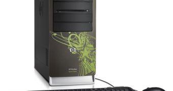 Hp debuts two new green desktop pcs.