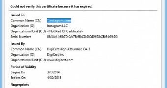 Instagram's SSL/TLS Certificate Just Expired, Security