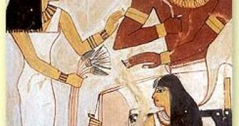 Lotus cultural and medicinal importance fresco of ancient egyptians with lotus flowers mightylinksfo Images