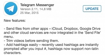 Telegram Messenger For Ios Updated With Cloud Services Integration