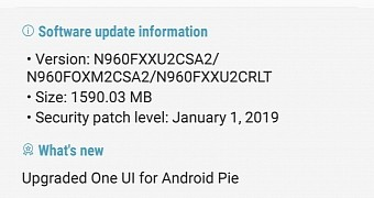 Android Pie for Samsung Galaxy Note 9 Now Available in More Countries