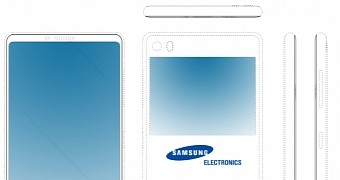 Samsung Fights Bezels with a Secondary Display on the Back