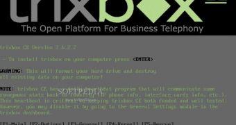 trixbox 2.6.2.2