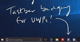 Windows 10 Anniversary Update Will Feature Taskbar Notification Badges