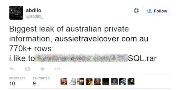 Aussie Travel Cover Hacked, over 750,000 Customer Records