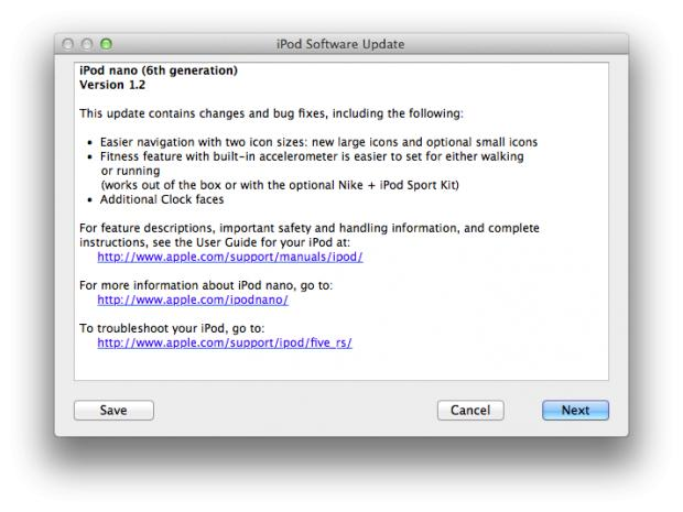 Ipsw Software Update Available For 6g Ipods Adds Clock Faces