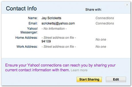 Yahoo Mail Gets Auto-Updated Contacts Information