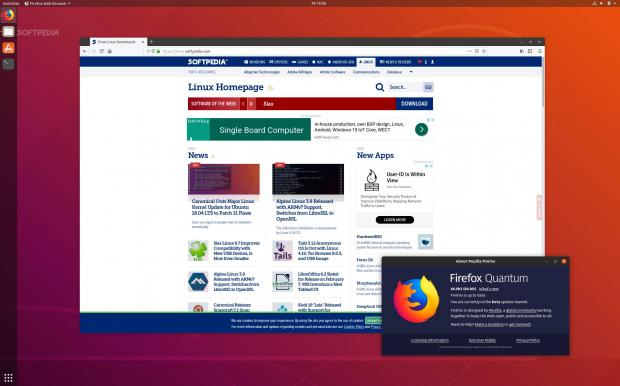 Firefox 66 with hidden title bar