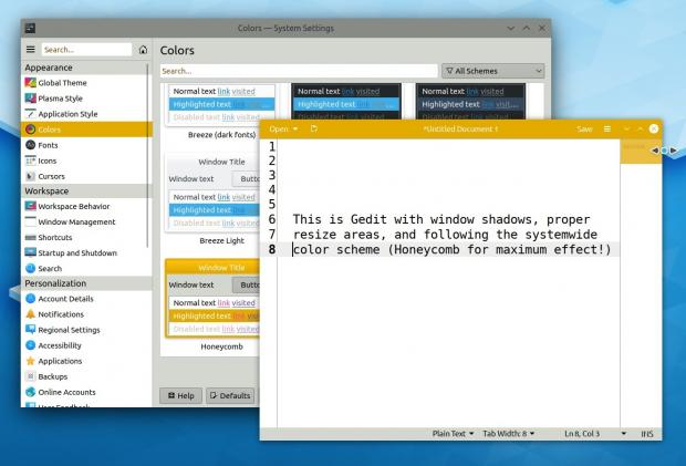 GTK Applications with CSDs and Theme Integration