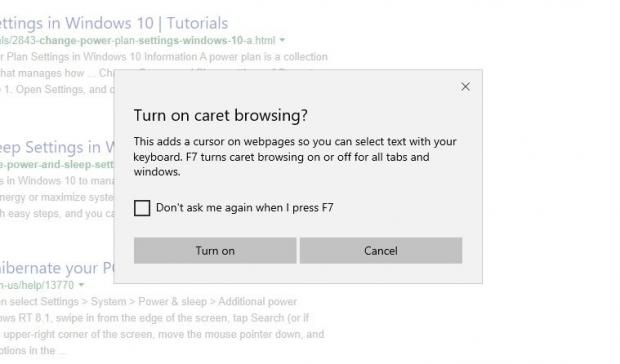 Try Out Caret Browsing in Chromium Microsoft Edge