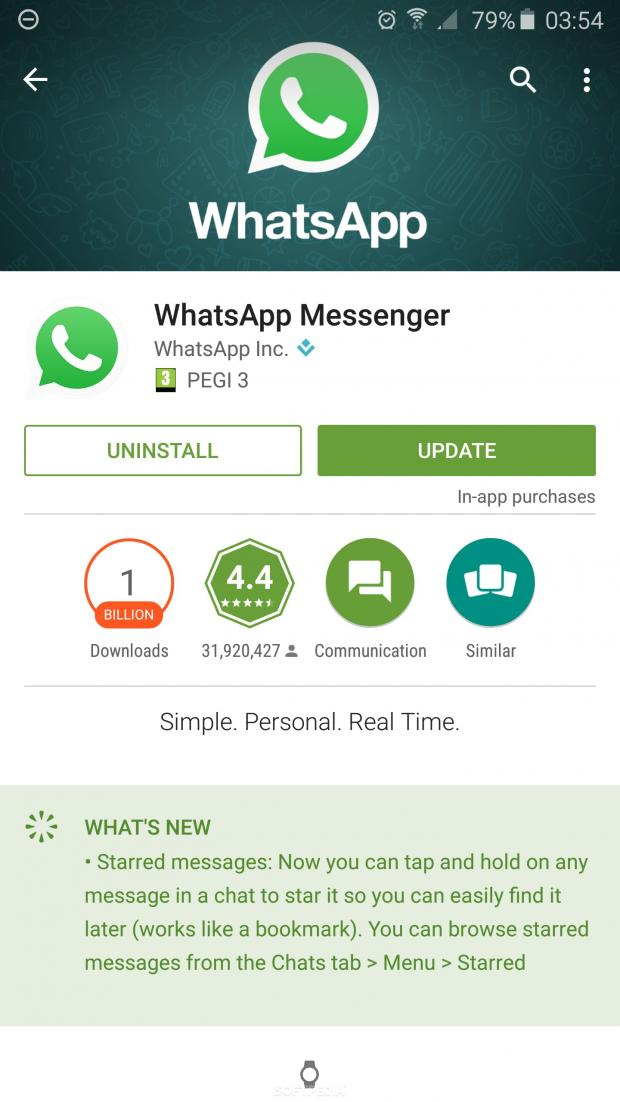 WhatsApp for Android Receives Update That Adds Starred ...