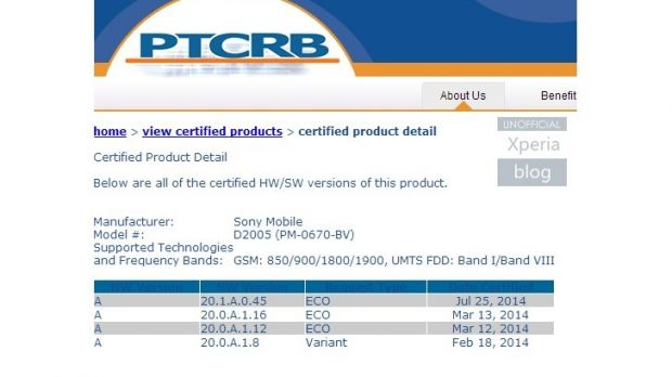 Android 4 4 2 KitKat for Sony Xperia E1 Receives Certification
