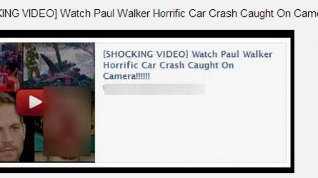 Facebook Scam: Watch Paul Walker Horrific Car Crash Caught on Camera