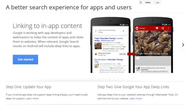 Google Search on Android to Offer Deep Links to Apps Globally