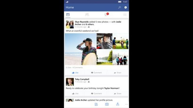 Facebook for Windows 10 Mobile Now Available for Download