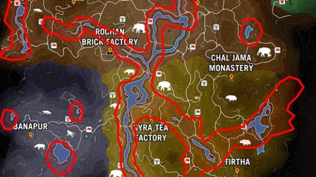Far Cry Primal Shares The Game Map With Far Cry 4