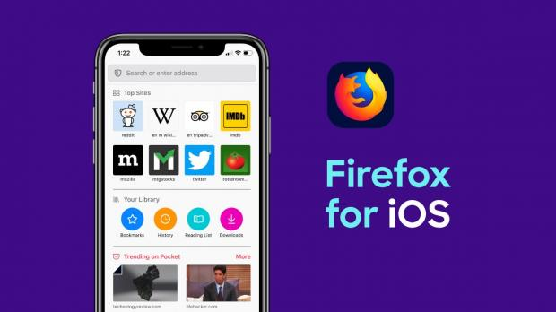 Mozilla released a new version of its Firefox web browser for Apple's iOS mobile operating system for iPhone and iPad devices, adding various new features and improvements.