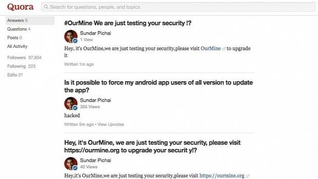 Hackers Breach Google CEO Sundar Pichai's Quora Account