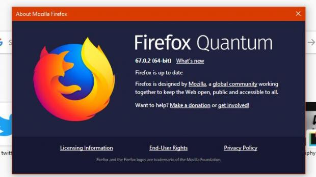 The issue affects the latest stable version of Firefox