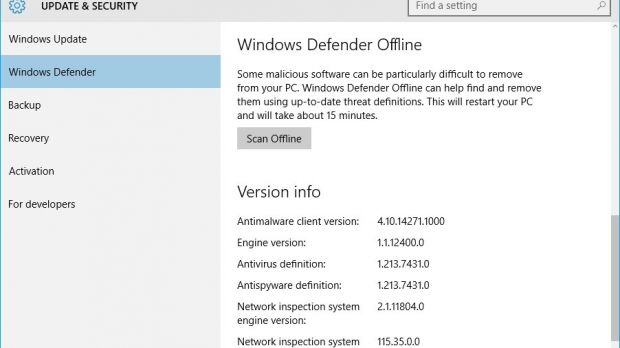 Latest Windows 10 Redstone Build Comes with Antivirus