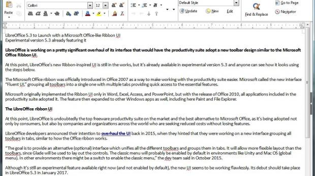 LibreOffice 5 3 to Launch with a Microsoft Office-like Ribbon UI