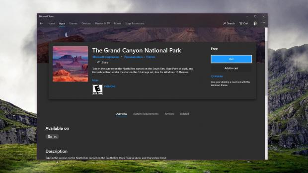 Microsoft Releases New Windows 10 Theme With Hd Grand Canyon