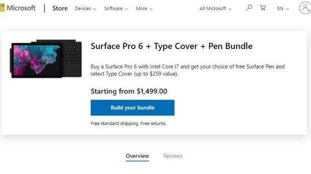 Microsoft Surface Pro 6 i7 Now Available with a Free Type