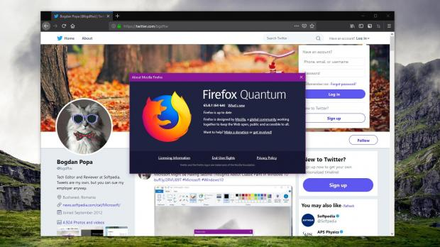 Mozilla has recently released a new version of Firefox browser, bringing the application to version 65.0.1 on all supported desktop platforms.