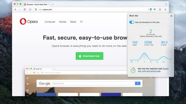 Opera Browser's Ad Blocker Now Available for Stable Desktop