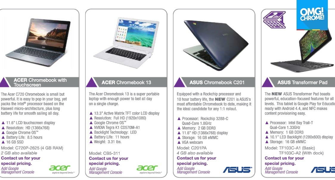 ASUS C201 Chromebook with Rockchip RK3288 SoC Coming Soon