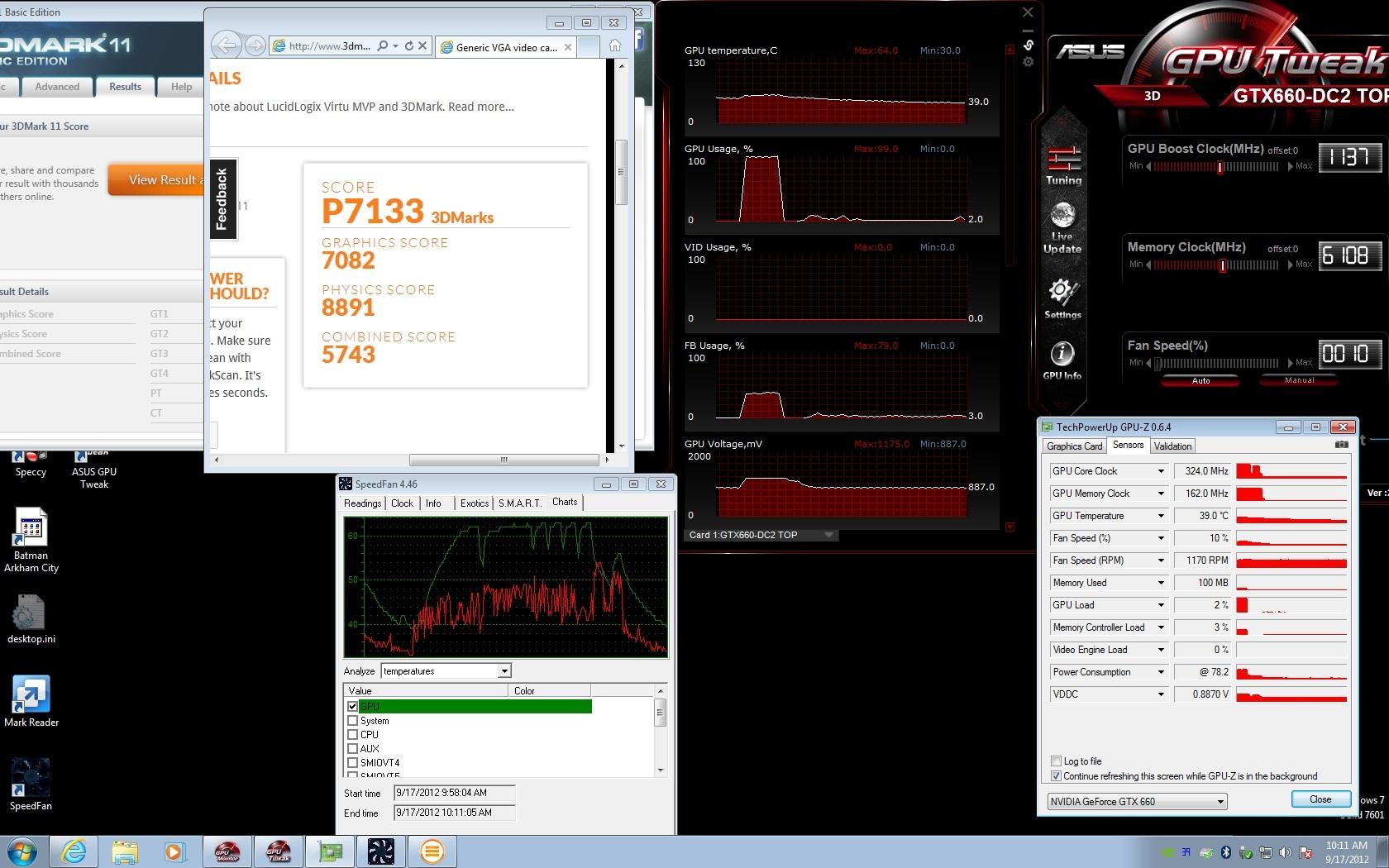 ASUS GeForce GTX 660 DirectCU II TOP Video Card Review