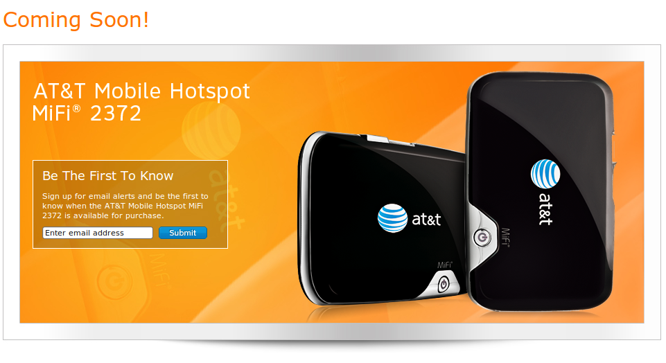 AT&T Mobile Hotspot MiFi 2372 Arrives on November 21st