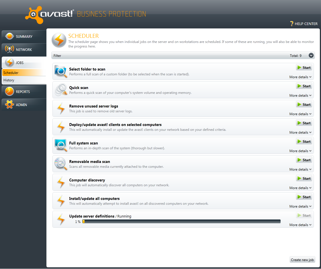 avast business management console download