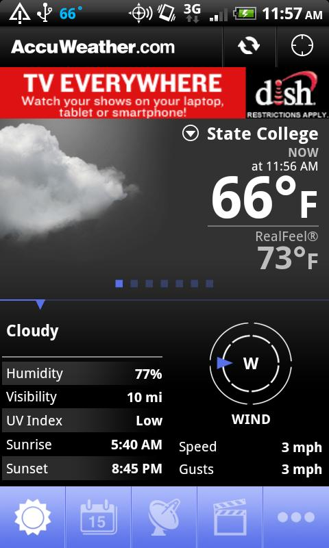 Accuweather For Android Updated With Detailed Hourly Forecasts And