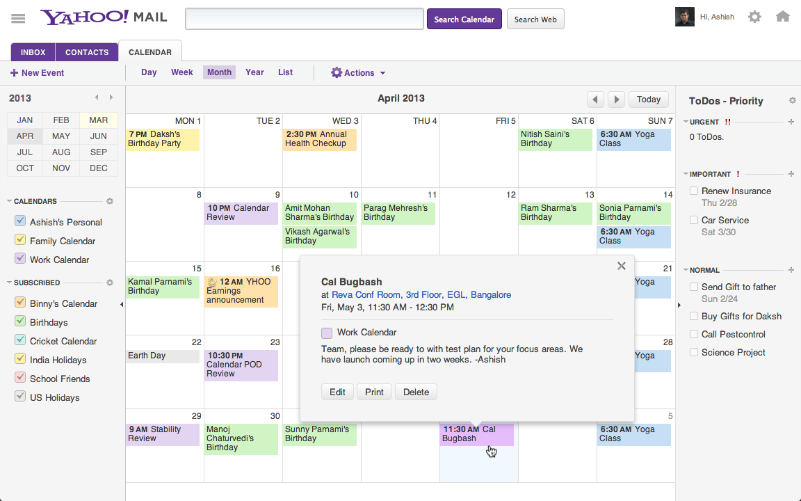 After Yahoo Mail, Calendar Is Getting an Update as Well