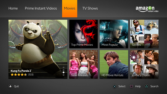 Amazon Instant Video App Now Available On Playstation 3