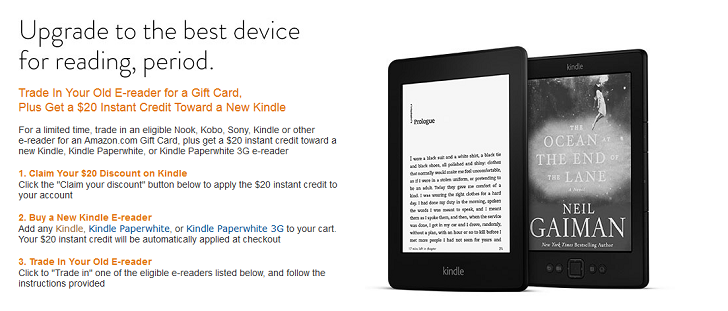 Amazon Now Trades In Your Old Ereaders For Gift Card And 20 14