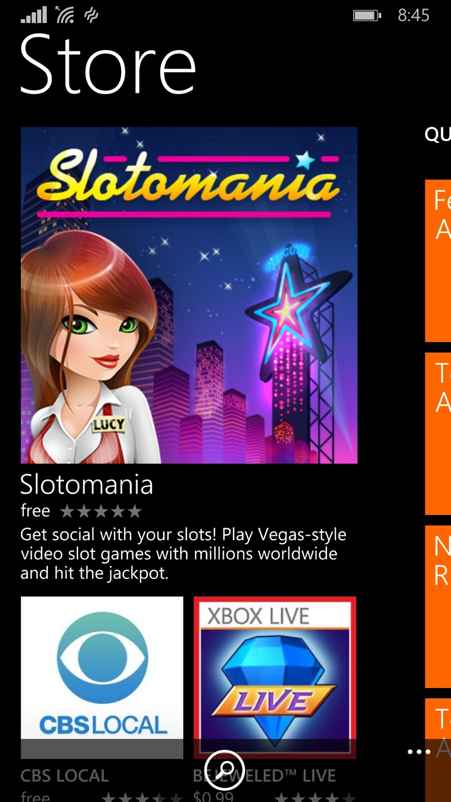 play android apps on windows phone