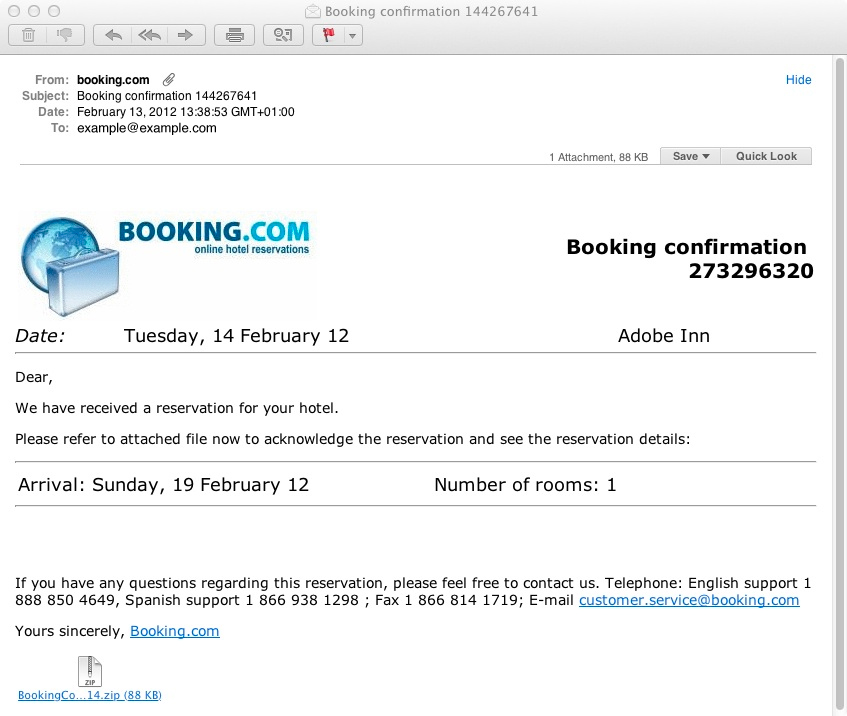 how to write a booking email template