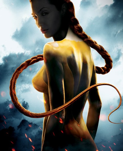 Angelina jolie in beowulf nude