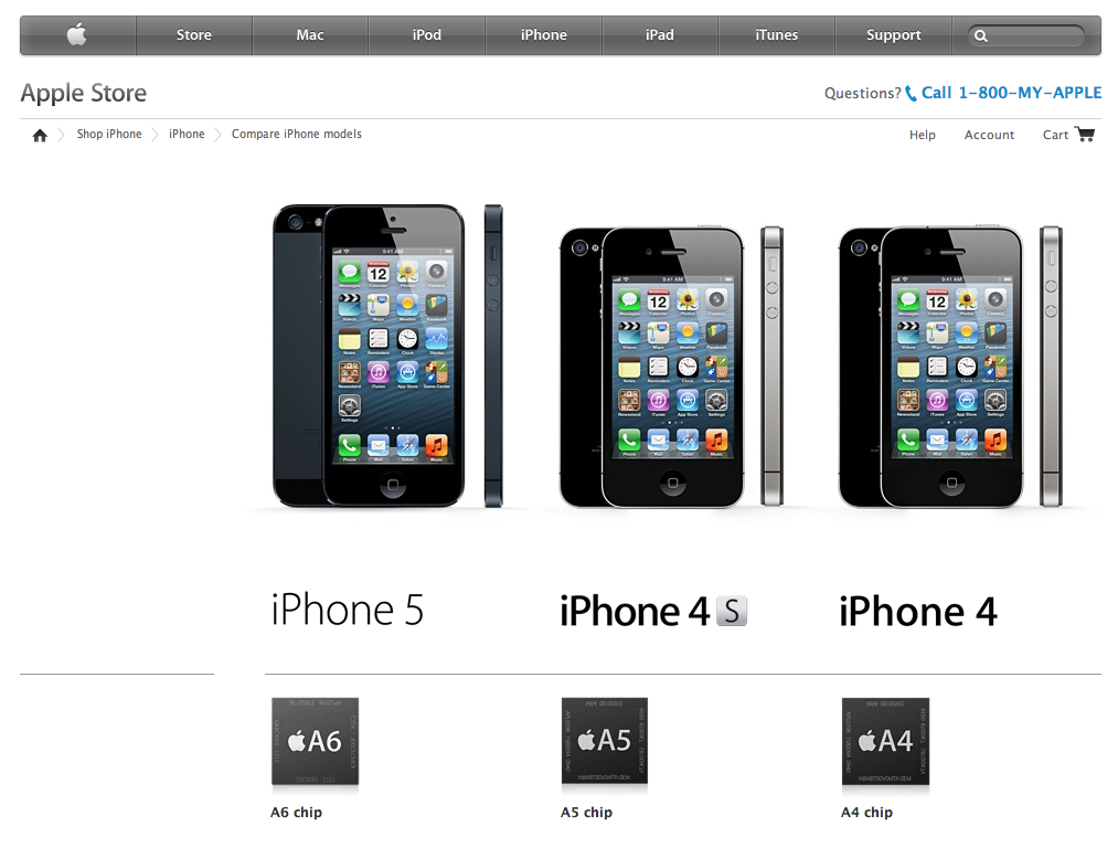 Apple: Compare Our iPhones, See What Works for You