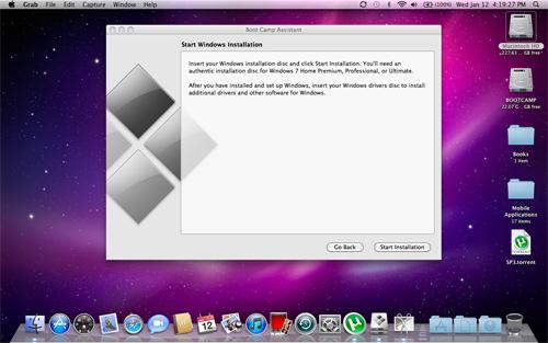 apple bootcamp windows xp