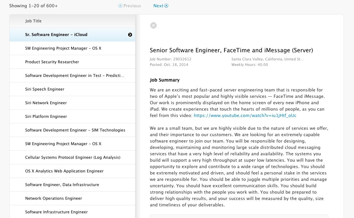 Apple Hiring to Fix iMessage Problems, Motivates New Applicants with ...
