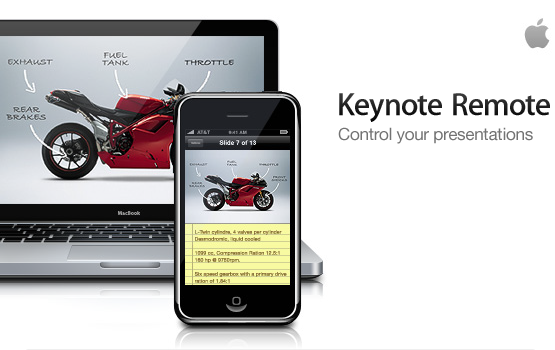 iphone bluetooth keynote remote app