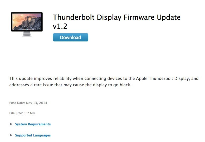 Apple Releases New Firmware Updates and Drivers for OS X